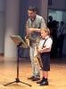 Audición Palau 2006. Dúo de saxos, profesor y alumno.